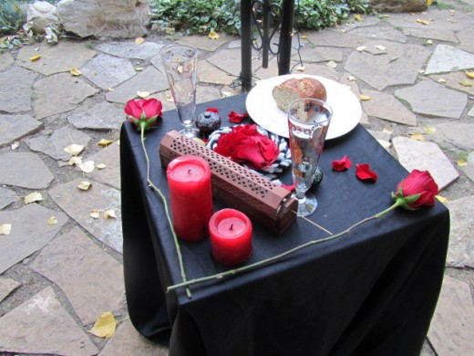 Preparing the Altar Altar for Wedding Ceremony Source own