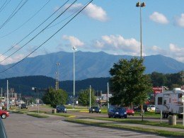 Mount LeConte from Pigeon Forge.