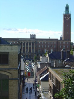 City Hall, Norwich, taken from the Castle Mound