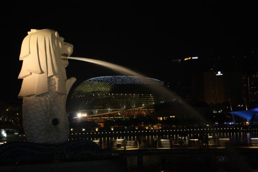 The Merlion in Singapore