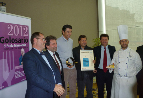 "Andrea Berton receives 2012 Golosario ""best restaurant"" award"