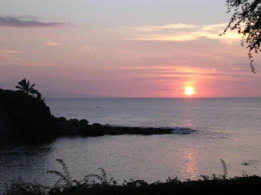 Calm Hawaii Sunset