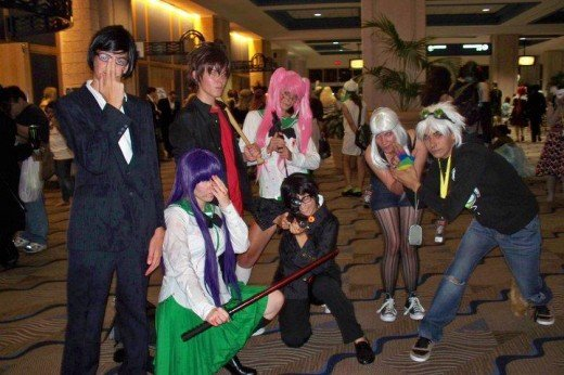 Group of cosplayers at Metrocon 2011