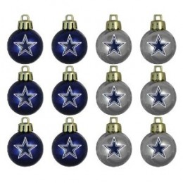 NFL Mini Ornament (12-Pack) - Dallas Cowboys shown but many others available