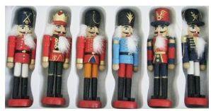 Kurt Adler Wooden Nutcracker Ornament Set