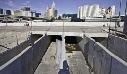 Entrance to the tunnels below Las Vegas Blvd. in Las Vegas.