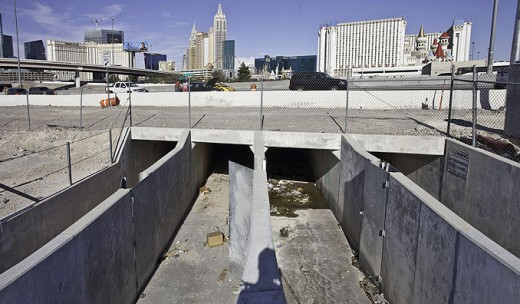 Entrance to the tunnels below Las Vegas Blvd. in Las Vegas.