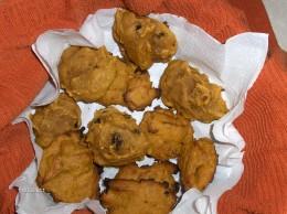 Pumpkin cookies with raisins and walnuts.