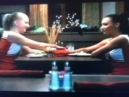 Brit and Santana get some quality time at Breadstix.