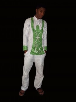 Combination of Brocades for a Nigerian wedding outfit