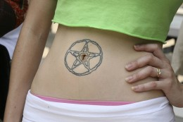 Star around Belly Button