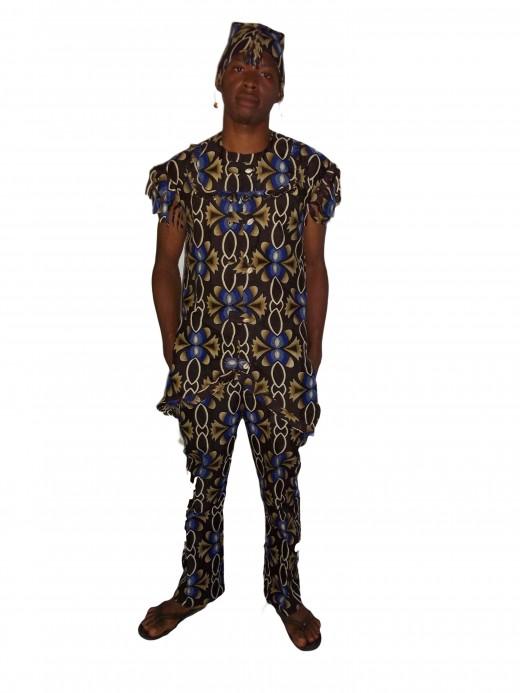Traditional wedding wear with Nigerian print