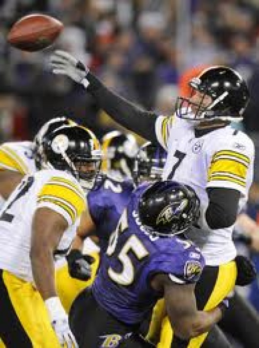 The Steeler/Raven rivalry is one of the most physical games you will ever see. These tow teams play hard every snap.