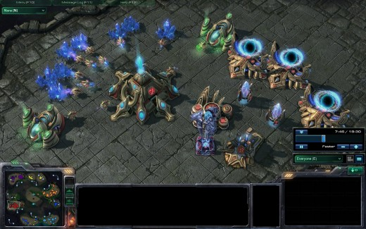 By scouting, you know that these Protoss are going to make Dark Templars(Dt's are invisible units that you can't attack without a detector.)