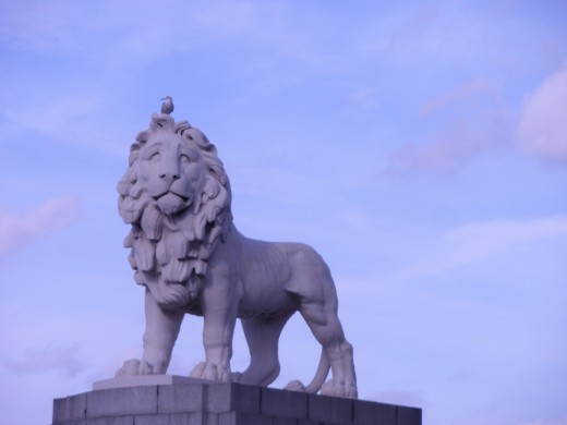 Lion statue in London, England