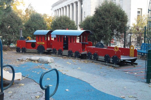 Free Wooden Train Playground Plans
