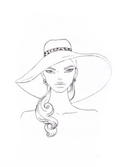Draw a ribbon to finish your hat design!