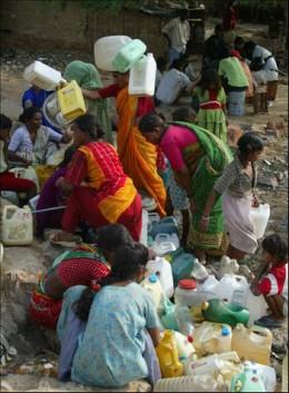 Water shortage in Delhi, India
