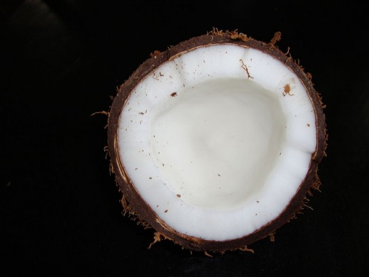 Coconut That's Been Opened