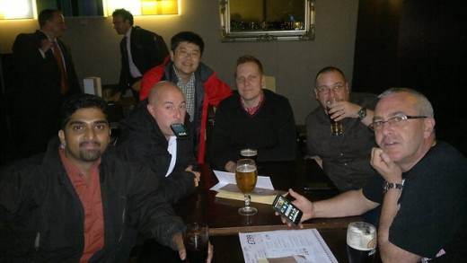 Drinks after Dinner with the guys from Nokia Support Discussions