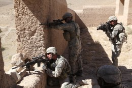 U.S Infantry in Afghanistan ready to engage with the MK14 EBR