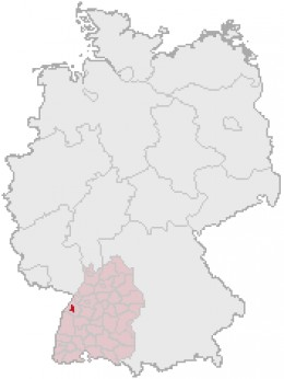 Map location of Baden-Baden, Germany