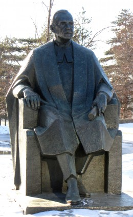 Louis St. Laurent (1882-1973) statue, grounds of Supreme Court of Canada, Ottawa, Ontario, Canada