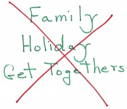Family Holiday Get Togethers - Do You Dread Them?