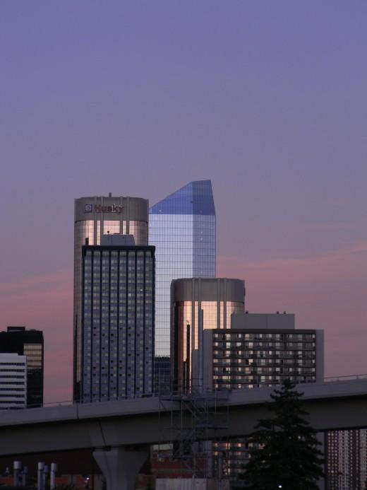 Calgary. Alberta at nightfall