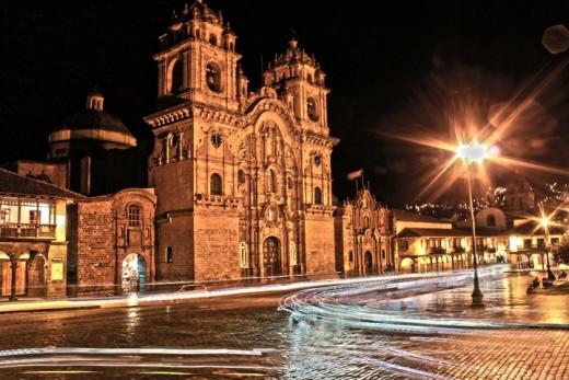 Traffic trails in Cusco - Peru