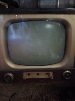 My First Television Stored in Garage