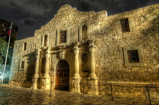 The Alamo is in San Antonio, Texas