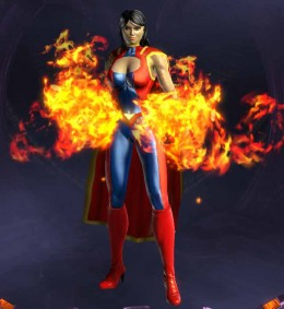 DCUO Character Creation - A Fireball Wielding Superheroine Inspired by Wonder Woman
