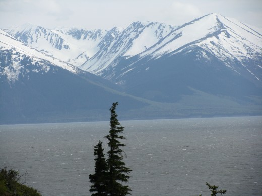 Beautiful mountain view in Alaska