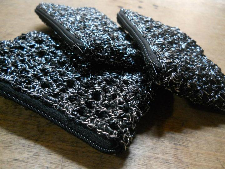 Crocheting With Plarn : Free Crochet Pattern: Purses for Gina Moira Crochets Plarn
