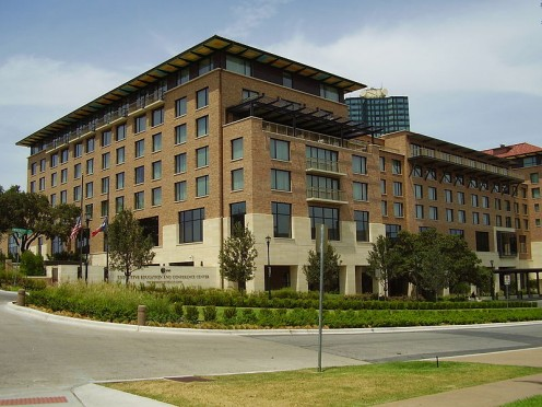 The AT&T Executive Education and Conference Center at the University of Texas at Austin.
