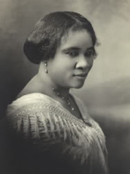 Madam C.J. Walker, born in 1867 to slaves, was considered the country's first self-made female millionaire.