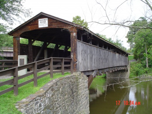 A local covered bridge, less than a mile from my house.