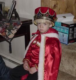 The sad little king at Halloween.