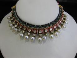 Jadau Kundan Meena: Artistic Jewelry (Jewellery) sets of Mogul pattern