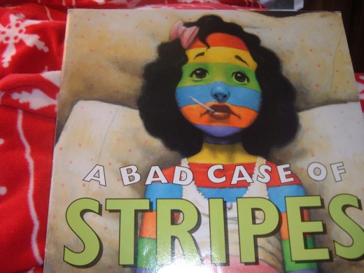Stripes and lima beans...what a fun book this is.