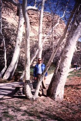 My hubby on the path to Montezuma's Castle