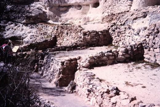 Montezuma Castle National Monument - Scenery below the cliff dwelling.