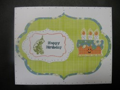 Easy to Make Home made Happy Birthday card with a Cricut and Stamping