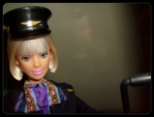 Travel can be stressful and freak kids out since they have no control. GIVE them something to control by having them manage Barbie's trip!