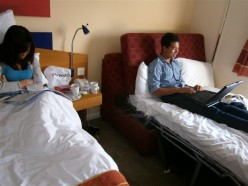 Held hostage against our own wills--holed up in our hotel.