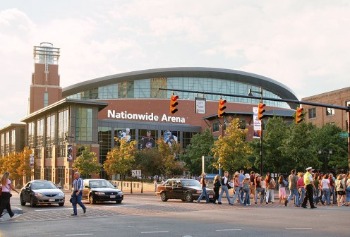 Nationwide Arena in North Downtown