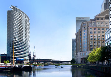 Shot of the Marriott West India Dock where we stayed during the event