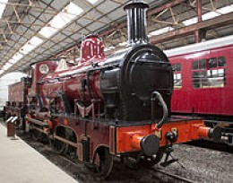 Midland Railway Kirtley 2-4-0 in Crimson Lake