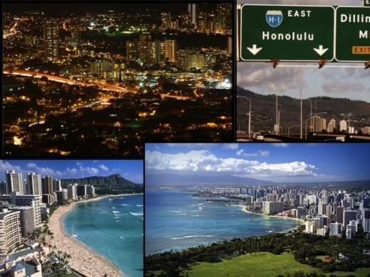 Honolulu and other industrialized areas of Hawaii